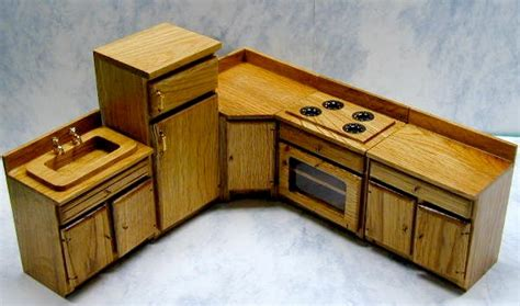Dollhouse Furniture Kitchen by Oak Dollhouse Kitchen Furniture