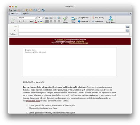 outlook 2010 mail template for email template