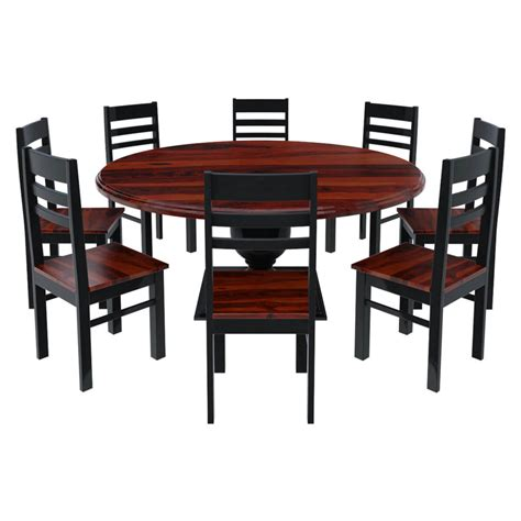 illinois modern two tone large dining table with 8