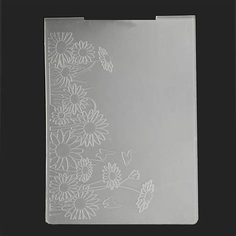 plastic embossing folder template diy scrapbook paper
