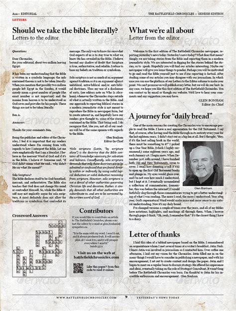 Digital Newspaper Template by Tabloid Newspaper Template For Indesign By Tedfull