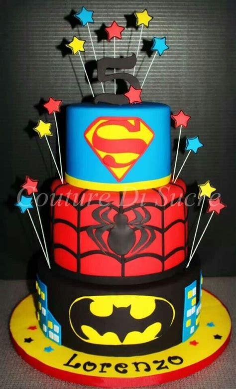 Super Hero  Ee  Birthday Ee   Cake  Ee  Birthday Ee   Themes Pinterest