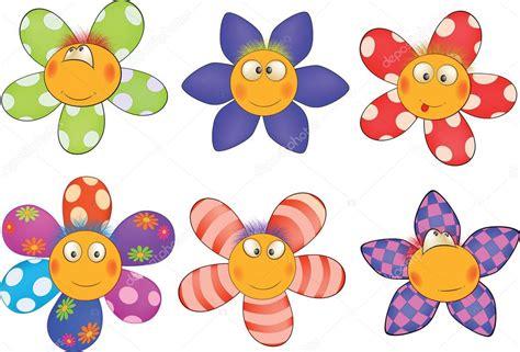 imagenes flores simples alegres flores pequenas desenhos animados vetor de