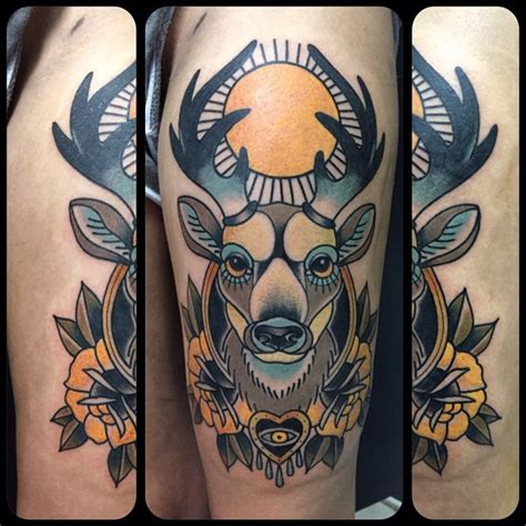 traditional deer tattoo 60 deer tattoos ideas and meanings