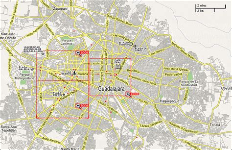 guadalajara map guadalajara map tourist attractions toursmaps