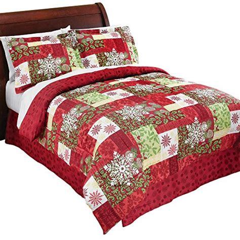 Medium Weight Comforter by Winterberry Pinecones Snowflakes Patchwork Medium