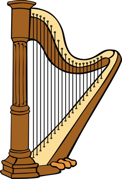 4 Inch L Harp by Classical Harp Clip Free Vector 4vector