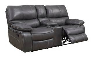 Grey Leather Reclining Sofa U0040 Grey Black Leather Console Reclining Loveseat By Global Furniture