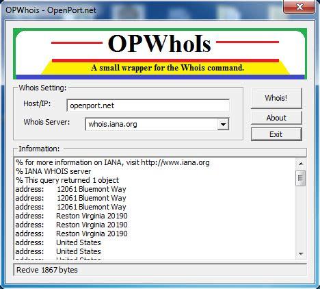 open port whois tool open port