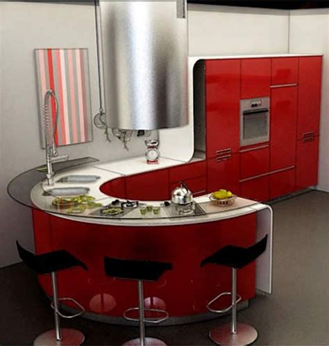 Rounded Kitchen Island sensuously rounded red round kitchen island kitchen