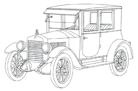 coloring pictures of vintage cars classic car coloring pages the old and muscle car