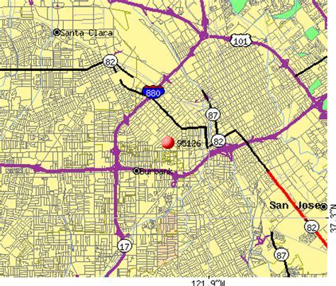 san jose income map 95126 zip code san jose california profile homes