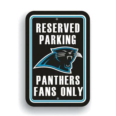 carolina panthers fan signs nfl carolina panthers parking sign sam s club