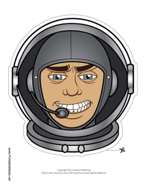 printable astronaut mask template astronaut mask printable pics about space