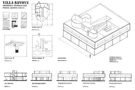 villa savoye floor plan dwg villa savoye project on behance