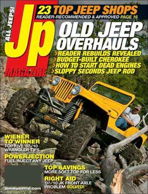 Jeep Magazines Jp Total Jeep Experience Magazine Subscription