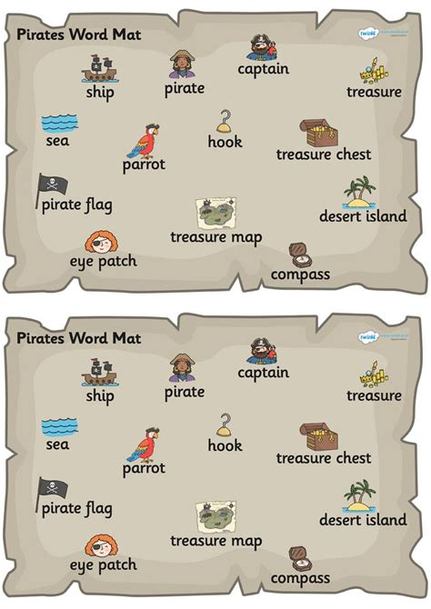 Words With Mat In Them by Twinkl Resources Gt Gt Pirate Word Mat Gt Gt Thousands Of