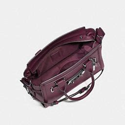Coach Swagger Glovetanned Leather Oxblood 27 coach swagger 27 in glovetanned leather