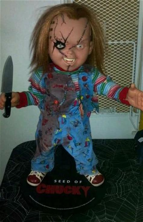 movie replica chucky doll rare seed of chucky 1 1 prop display sideshow tilly dourif