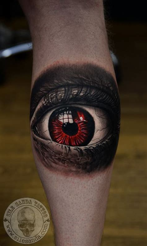 red eye tattoo eye http tattooideas247 scary eye