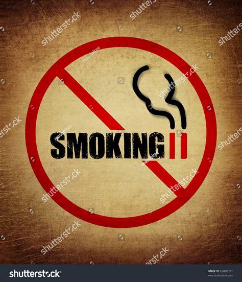 no smoking sign vintage no smoking sign vintage style stock photo 62890711