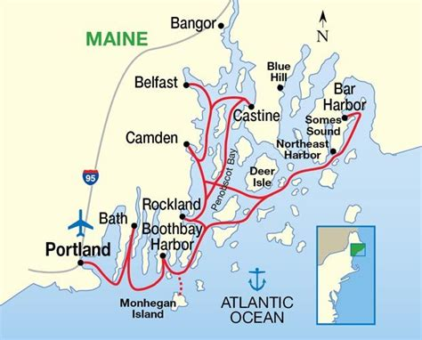 map of maine coastline maine coast and harbors eight day seven cruise