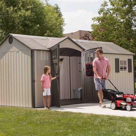 lifetime plastic apex shed  garden street