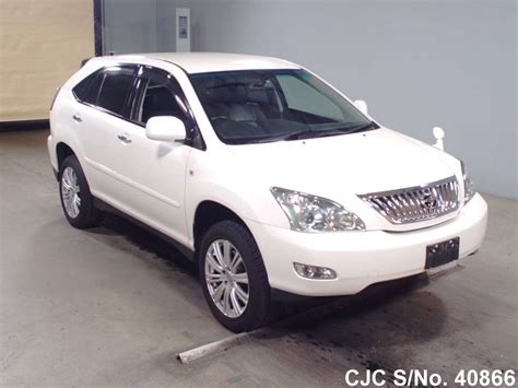 toyota harrier 2008 2008 toyota harrier pearl for sale stock no 40866