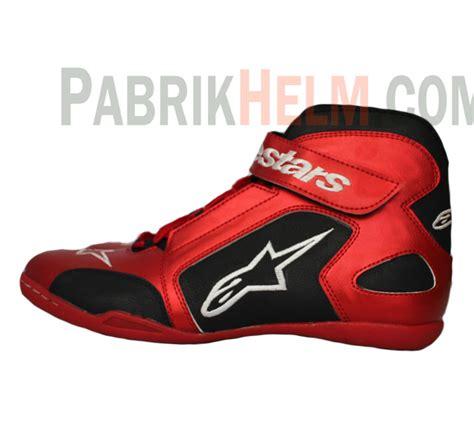Sepatu Drag Hitam Merah sepatu drag boots alpinestar pabrikhelm jual helm murah