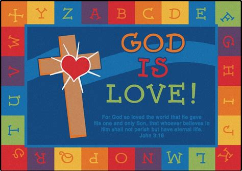 themes about god s love god is love learning rug carpets for kids scripture area rug