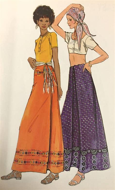 Pattern Skirt Pinterest   1970 s butterick maxi skirt pattern from our archives