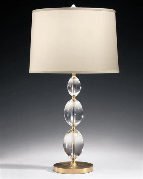 Clear Glass Chandelier Solid Crystal Table Lamp
