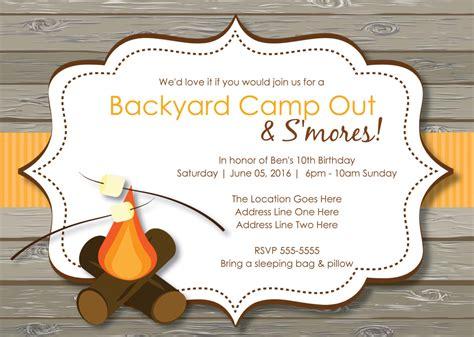 backyard birthday party invitations bonfire party invitations gangcraft net