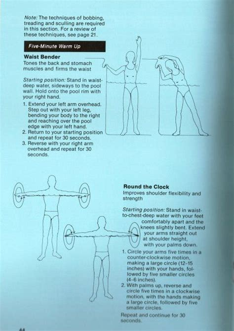 printable exercise instructions 25 best ideas about water aerobic exercises on pinterest