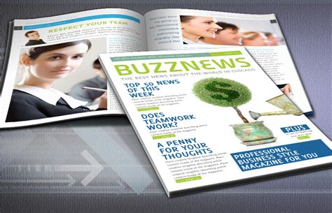 business news magazine indesign template
