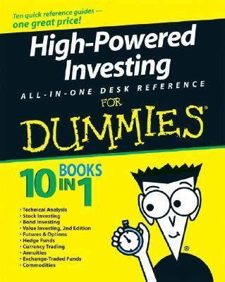 investing in your 20s and 30s for dummies for dummies business personal finance books high powered investing all in one for dummies rent