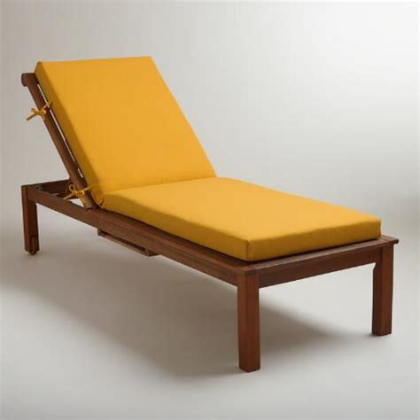 yellow chaise lounge yellow outdoor chaise lounge cushion world market