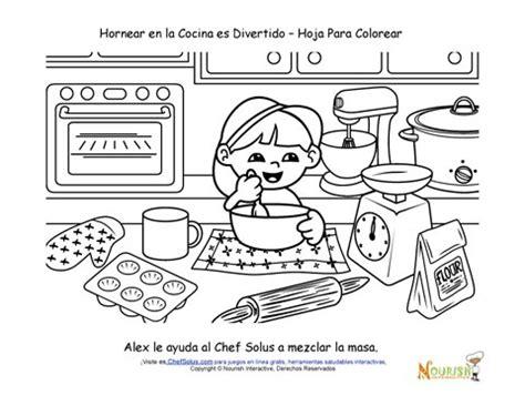 coloring pages of kitchen items hornear con los ni 241 os p 225 gina para colorear para los ni 241 os