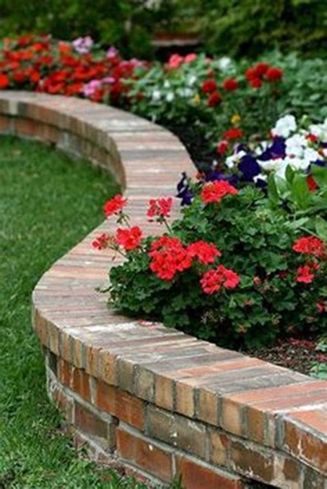 brick garden bed edging best 25 brick garden edging ideas on garden