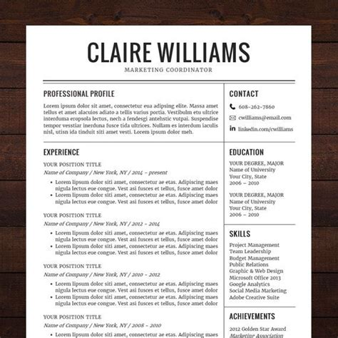free professional resume templates 25 unique functional resume template ideas on