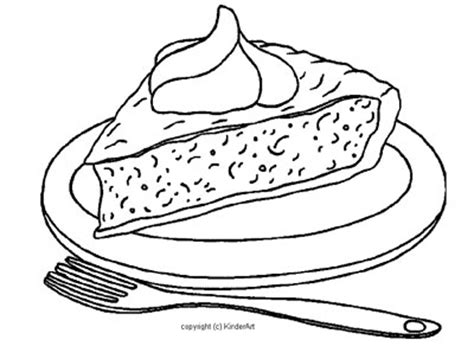 pumpkin pie coloring page kinderart