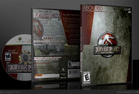 jurassic park operation genesis xbox for sale jurassic park operation genesis ii xbox 360 box cover