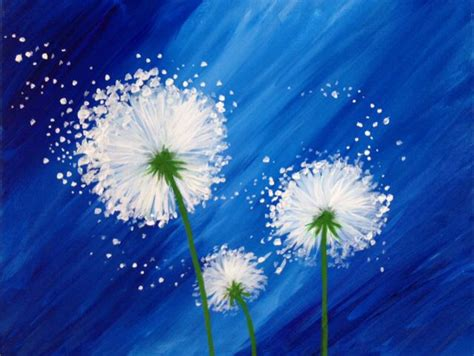 paint nite yellow best 25 dandelion painting ideas on