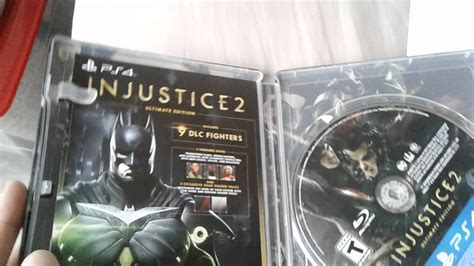 injustice 2 ultimate edition steelbook ps4 unboxing