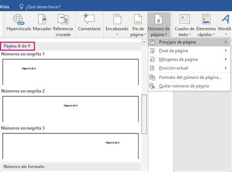 agregar imagenes a un pdf agregar la numeraci 243 n de p 225 gina x de y a un documento word