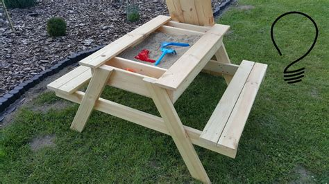 how to a picnic table how to a sandbox picnic table