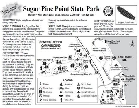 sugar pine trail a small town point sugar pine point state park