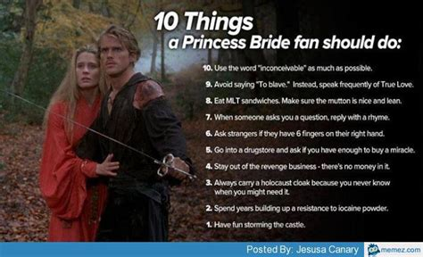 Princess Bride Meme - princess bride meme 10 things a princess bride fan