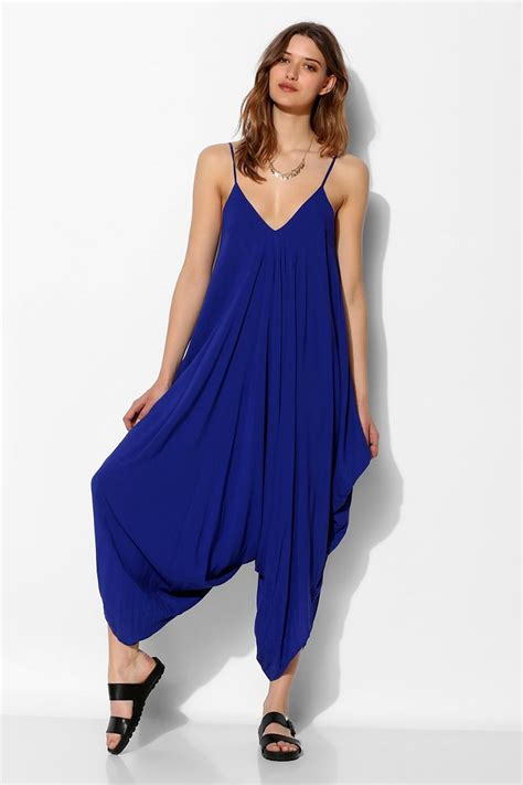 Purple Drape Lyst Indah Drapey Harem Pant Jumpsuit In Blue