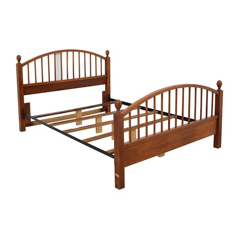 queen bed frame 77 off solid oak caged queen bed frame beds